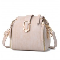 Latest Fashion Personality Big Capacity Cream Messenger Handbag WB-34CR