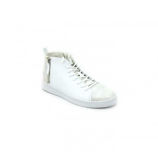 Bata North Star White Color Canvas Shoes For Women B-186W
