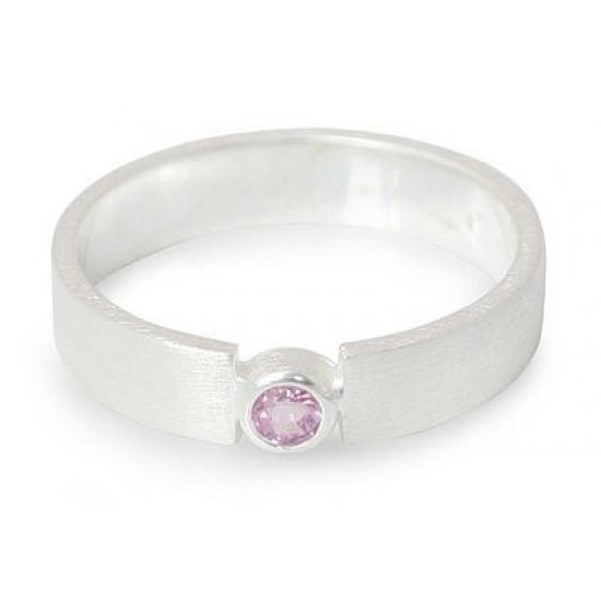 Lanna Belle Silver and Pink Sapphire Ring ANDR-37
