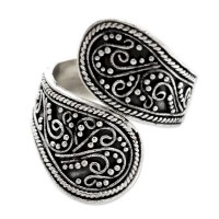 Together Sterling Silver Wrap Ring from Indonesia ANDR-8