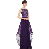 Women Elegant Lace & Chiffon Long Maxi Evening Party Dress WC-121PR