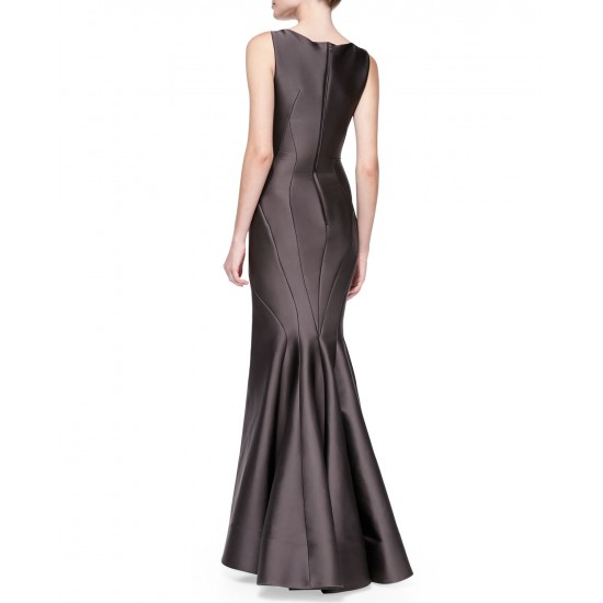 Women high-end Round Neck Sleeveless Seamed Mermaid Gown Dress WC-122 image