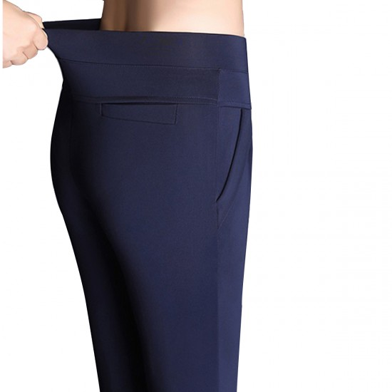Women Blue Real Shot Casual Harem Pants Spring and autumn Trousers WC-151BL image