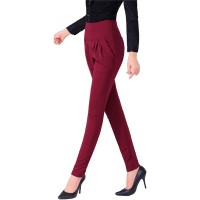 Women Red Real Shot Casual Harem Pants Spring and Autumn Trousers WC-151RD