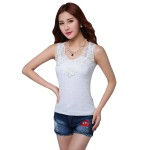 Women Summer lace Camisole Modal Slim Vest Bottoming White Shirt WC-154W |image