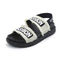Women Flat Hollow Open Toe Thick Bottom Sandal S-94W