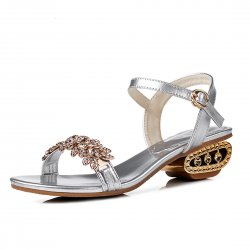 Stylish Female Summer New Fish Mouth Diamond High Heel Buckle Sandals  S-101SL