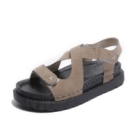 New Muffin Bottom Sandals Leather Cross Strap Sandals S-102BR