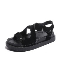 New Muffin Bottom Sandals Leather Cross Strap Sandals S-102BK