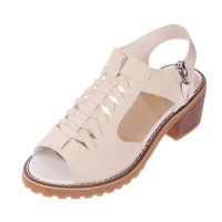 Women Stylish Summer Rough Waterproof  With Side Zipper Sandals S-105BR
