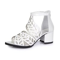 Flower Style Women Hollow Sandals thick with high-heeled Sandals S-106SL