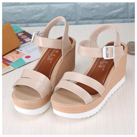771b623af Women Summer New Thick bottom Comfort Walking High heel open toe Sandal  S-108C image