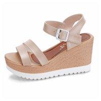 Women Summer New Thick bottom Comfort Walking High heel open toe Sandal S-108C