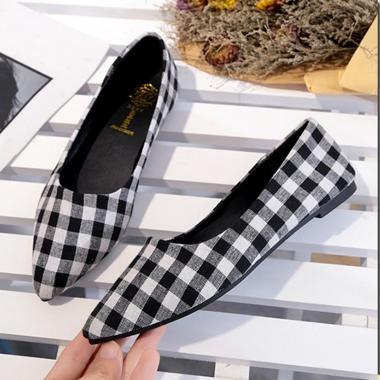Ladies Summer section Tip Shallow mouth Square Fashion Black Shoes S-111BK image