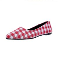 Ladies Summer section Tip Shallow mouth Square Fashion Red Shoes S-111RD