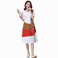 Multi Color New Satin Summer Women Midi Dress WC-182W