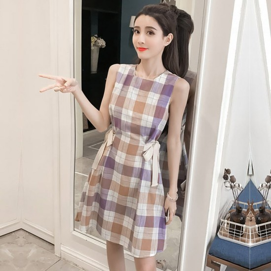 Summer New Style Sleeveless Purple Love Dress For Women WC-183PR image