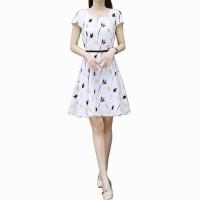 Summer chiffon Flower Pattern Dress for women WC-186