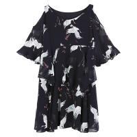 Chiffon Sleeves Strapless Loose Maternity Looking Women Dress WC-187