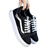 New Summer Stylish White Canvas Shoes For Women WS-04BK