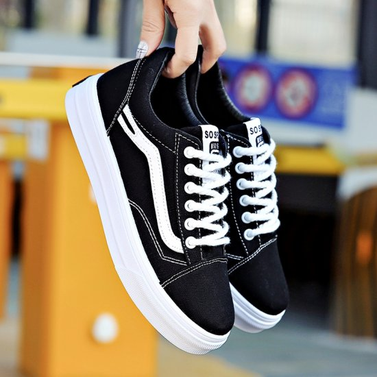 New Summer Stylish Black Canvas Shoes For Women S-124BK image