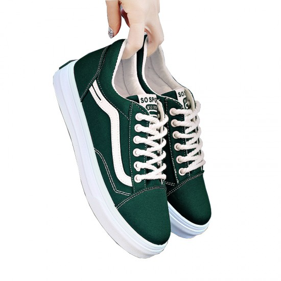 New Summer Stylish Green Canvas Shoes For Women S-124GR image