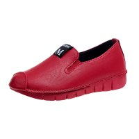 Red Soft Casual Loose Work Shoes For Women S-118RD