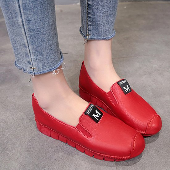 Red Soft Casual Loose Work Shoes For Women S-118RD image