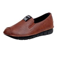 Brown Soft Casual Loose Work Shoes For Women S-118BR