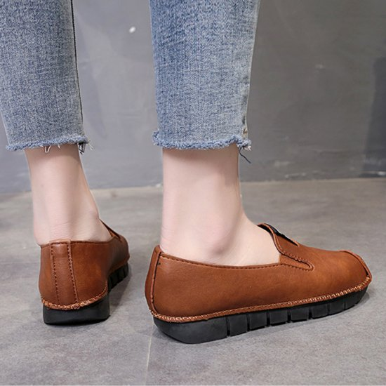 Brown Soft Casual Loose Work Shoes For Women S-118BR image