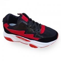Autumn Thick Platform Black Sports Shoes For Women S-126BK