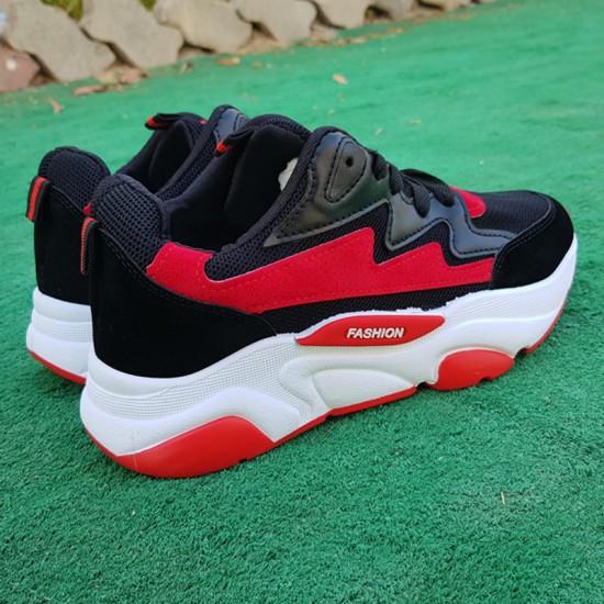 Autumn Thick Platform Black Sports Shoes For Women S-126BK image