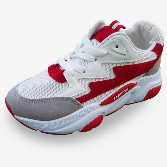 Autumn Thick Platform Red Sports Shoes For Women S-126RD image