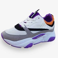 New Summer Fashion Women Purple Flats Running Shoes S-128PR