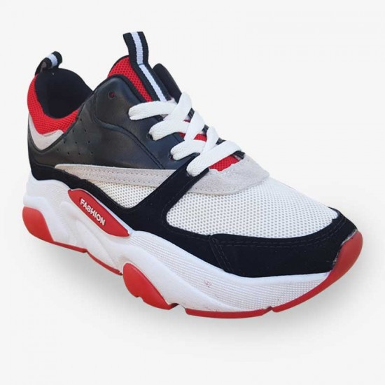 New Fashion Women Red Running Sports Shoes S-128RD image