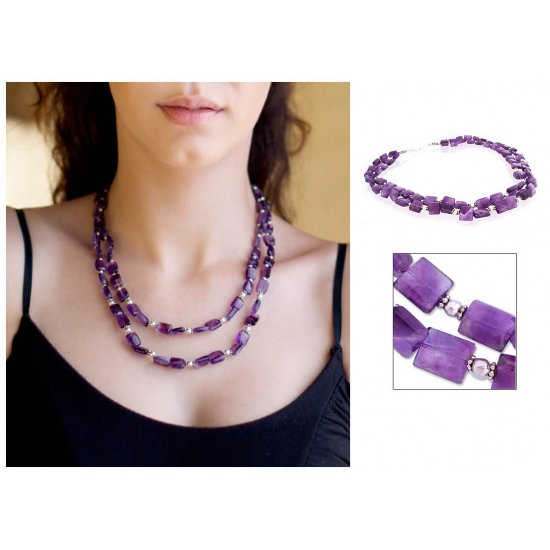 Paradise Amethyst strand necklace ANDN-69