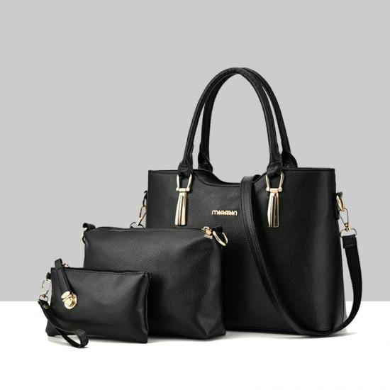 shoulder portable Messenger Three Pieces handbag WB-41BK image