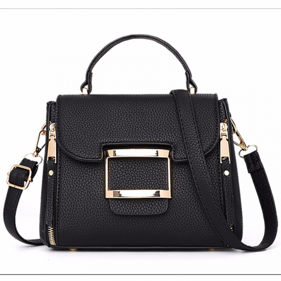 Lychee Pattern Black Cross-Border Handbag WB-42BK image