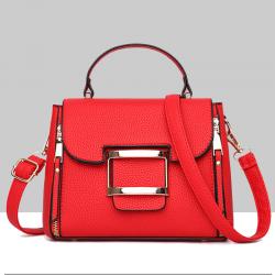 Lychee Pattern Red Cross-Border Handbag WB-42RD