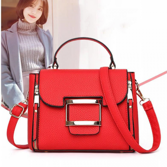 Lychee Pattern Red Cross-Border Handbag WB-42RD image