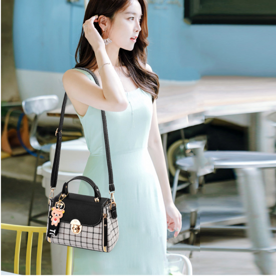 New Fashion Small Square Cross Border Ladies Shoulder Bag WB-43GR image