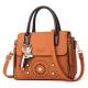 Floral Engraved Design Cross Border Shoulder Handbags WB-46BR image