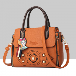 Floral Engraved Design Cross Border Shoulder Handbags WB-46BR