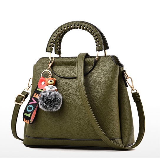 Women Beautiful Plaided Cross Section Shoulder Bag WB-47GN image