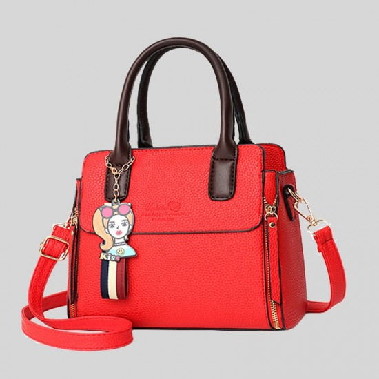 Women's Fashionable Shoulder Diagonal Red Color Handbag WB-50RD image