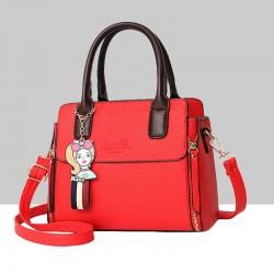 Women's Fashionable Shoulder Diagonal Red Color Handbag WB-50RD