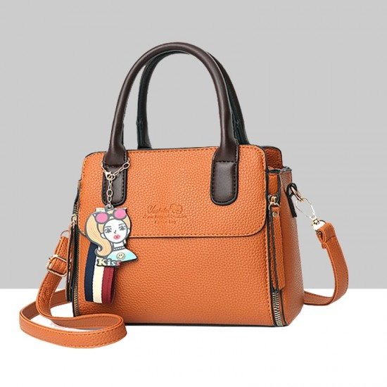 Women's Fashionable Shoulder Diagonal Orange Color Handbag WB-50OR image