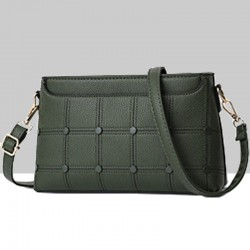Rivets Decorated Small Square Green Shoulder Bag WB-54GN