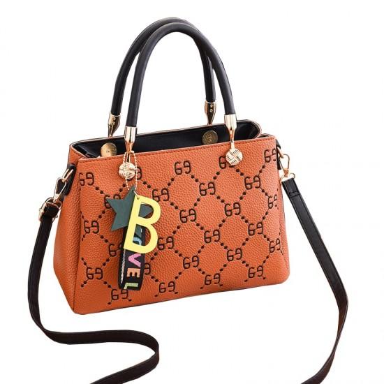 Designer Print European Style Orange Shoulder Handbag WB-55OR image
