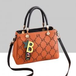 Designer Print European Style Orange Shoulder Handbag WB-55OR
